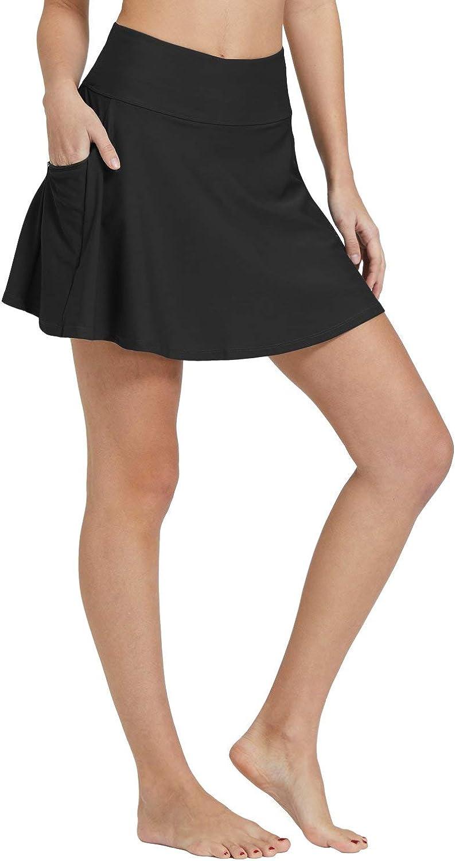 BALEAF Womens High Waisted Swim Skirt Bikini Tankini Bottom with Side Pocket