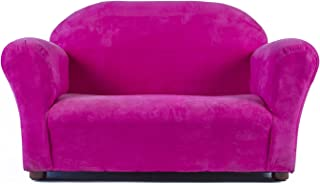 Keet Roundy Microsuede Children's Sofa, Hot Pink