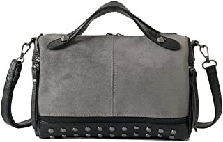 COAFIT Women's Shoulder Bag Studded Rivet Large Top Handle Messenger Bag