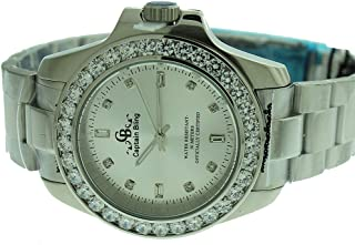 Full Stainless Steel Watch-iced Out Bezel- Genuine CZ-Water Resistant with Box#18