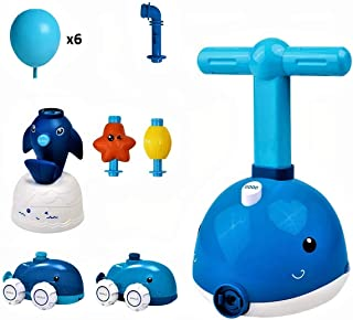 Balloon Powered Car Ocean version - Dolphin - Kids Dolphin Balloon Power Car - Starfish Balloon Powered Rocket - Fun Inert...