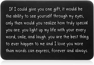 Wallet Insert Card Black Christmas Gifts for Him Her Men Husband Valentine from Wife Girlfriend Boyfriend Anniversary Birt...