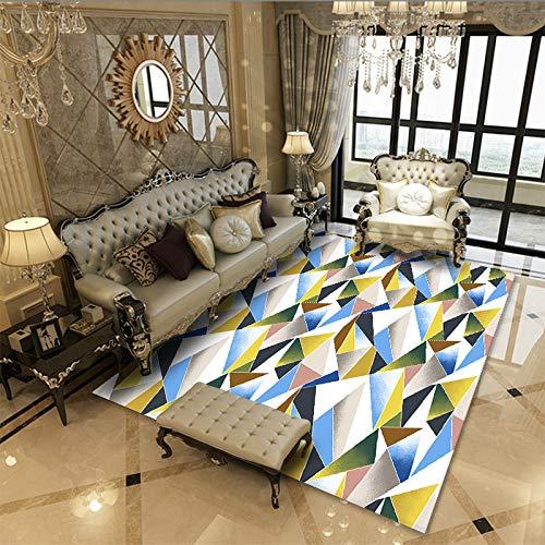 Alfombra de estilo moderno para sala de estar, dormitorio, tamaño extra grande, alfombra de pelo corto, no se desprende, antideslizante, lavable, 160 x 230 cm