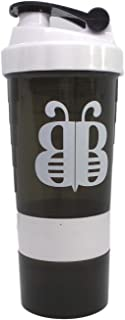 white shaker bottle