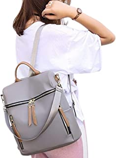 Heyean Backpack for Women, Crossbody Bags, Knapsack for Teen Girls, Nylon Waterproof Anti-Theft Shoulder Bag, School Rucksack for Students Travel Daily