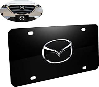 Goodcover 3D Heavy Stainless Steel License Plate Cover for Mazda,Mazda Tag Plate License Plate Frame
