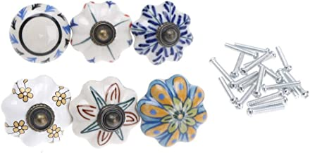 Flower Ceramic Knobs - Vintage Furniture Handle Flower Ceramic Knobs And Handles Door Cupboard Drawer Pull Knob Hardware - Knob Ceramic Pull Knobs Flower