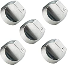 WB03T10329 WB03X32194 Cooktop Range Burner Control Dial Knob Appliances parts for GE. Stove/Range Stainless Steel. Replace WB03T10329, WB03X25889, WB03X32194, AP5985157, 4920893 (5pcs)
