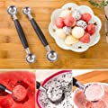 1 Pc Double-end Stainless Steel Melon Fruit Baller Scoop Practical Spoon Cooking Kitchen Tool for Women Cook Hot
