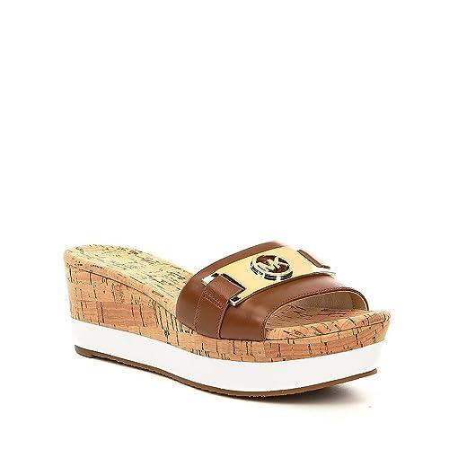 5b8178a1f Michael Michael Kors Womens Warren Open Toe Casual Slide Sandals
