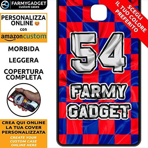 FarmyGadget Cover Case Custodia Morbida Soft TPU Personalizzata - Calcio, Numero, Testo, Effetto Bandiera, Maglia - Nome e Colori Personalizzabile per Huawei P9 Lite