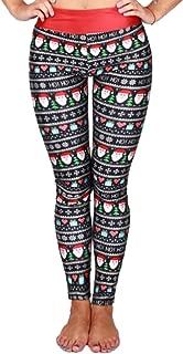 Women's Christmas Printed Leggings High Waist Stretchy Tights