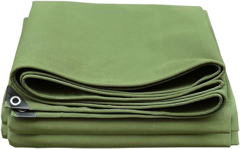 Tarpaulin HUO Bache Forte, Couverture Anti-UV De Bache Imperméable, Matériel Bricolage Résistant, 650g   M2 (Couleur   Armée Verte, Taille   4  5m)