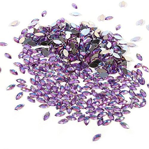 500 Stks In Bulk 7X15mm Kristal AB Acryl Flatback Strass Oogvormige Diamant Kralen Voor DIY Ambachten Handwerk Kleding Tas Schoenen Groothandel