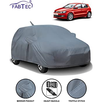 Fabtec Car Body Cover for Volkswagen Polo with Mirror Antenna Pocket (Heavy Duty)