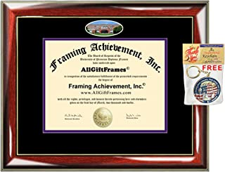 University of Portland Diploma Frame School Campus Photo Graduate Framing Degree Framing Double mat Graduation Gift Bachelor Master MBA Doctorate PHD Certificate Holder Case