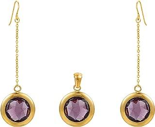 Charles Delon Women Cubic Zirconia Pendant, Earrings Bijoux