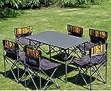 N/F Taules i cadires Plegables Taules i cadires de pícnic portàtils a l'aire lliure Taula de pícnic i cadira d'aliatge d'alumini Taula de pícnic d'aliatge d'alumini