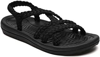 Women's Comfortable Walking Sandals with Arch Support Waterproof for Walking/Hiking/Travel/Wedding/Water Spot/Beach