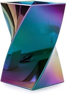 Zodaca [Wave Design] Stylish Wave Pen Pencil Holder Desktop Stationery Makeup Brush Organizer, Aurora