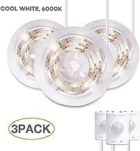 Under Shelf Lighting, Megulla Stick-Anywhere Battery-Powered LED Night Light Strip, Closet Lights, Stair Lights, Tap Lights, Safe Lights for Hallway, Bathroom, Bedroom, Kitchen (Cool White-3Pack)