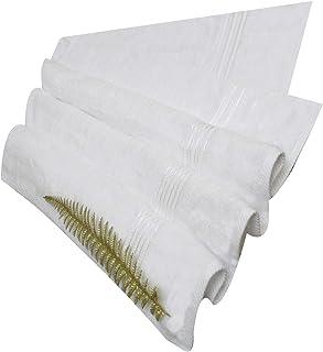 Divine Cotton Solid Pattern,White - Bath Towels