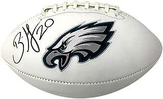 Brian Dawkins Eagles Autographed/Signed Logo Football JSA 131395