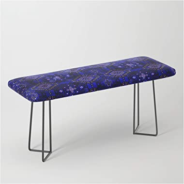 N128 - Royal Blue Traditional Oriental Moroccan Style Design by Arteresting Bazaar on Bench/Ottoman