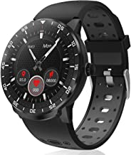 Smart Watch for Android iOS Phones HopoFit IP68 Waterproof Smartwatch, Fitness Tracker Sport Watch with Blood Pressure Heart Rate and Sleep Monitor, Stopwatch for Men Women (Black)
