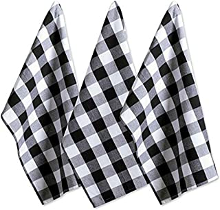 CharmCollection Cotton Buffalo Check Plaid Dish Towels (51cm*51cm, Set of 3) Oversized Kitchen Towels for Drying, Cleaning...