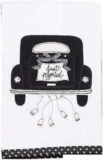 Glory Haus 7090514 Just Married Black Car Tea Towel, Multicolor