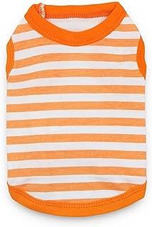DroolingDog Pet Striped Clothes Plain Cotton T Shirt