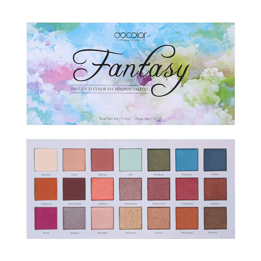 Docolor Eyeshadow High material Palette 21 Makeup It is very popular Colors Shimmer Matte