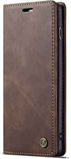 Cover Case for Samsung Galaxy S10,Holder Flip Shell Vintage Matte Leather Cash Slot 6.1inch Retro 2Card Slot Coffee(ID Card,Credit Card) Full Protection Accurate Cutouts Gift Girls Boys