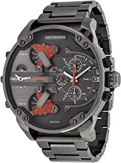 Diesel DZ7315 The Daddies Chronograph Four Time Zone Dial Gunmetal Ion-Plated Men's Watch