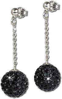 qualité incroyable plusieurs couleurs personnalisé Amazon.fr : Boule Noire - Boucles d'oreilles / Femme : Bijoux