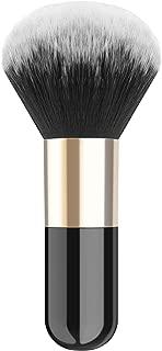 Luxspire Powder Makeup Brush, Flat Kabuki Brush, Single Large Makeup Brush Soft Face Mineral Powder Foundation Brush Blush Brush for Blending Makeup, Black & Gold