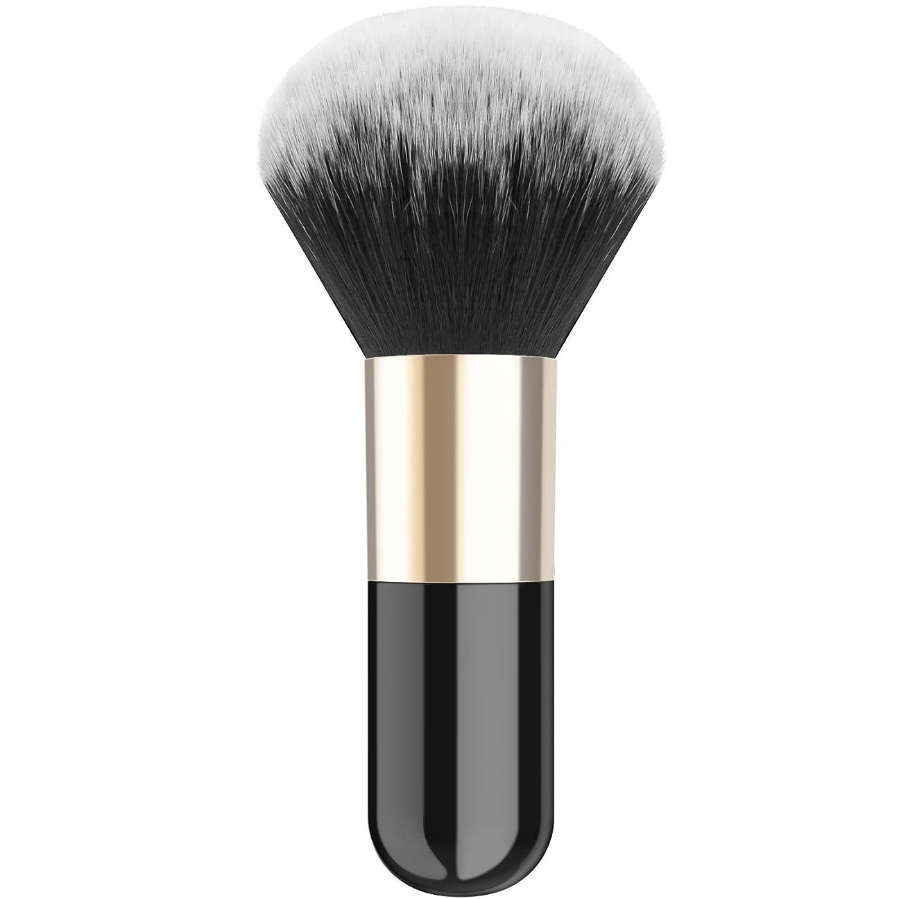 直立泥棒メトリックファンデーションブラシ - Luxspire メイクブラシ 化粧筆 コスメブラシ 繊細な人工毛 毛質やわらかい 肌に優しい - Black
