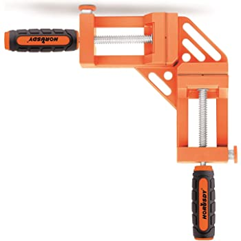 HORUSDY Quick-Jaw Right Angle 90 Degree Corner Clamp for Welding, Wood-working, Photo Framing - Best Unique Tool Gift for Men