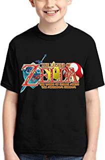 guoweiweiB Camisetas de Manga Corta para niño, The Legend of Zelda Boys Print T-Shirt Teens Casual Short Sleeve