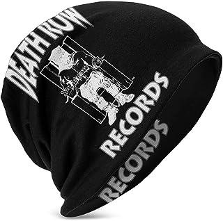 Hdadwy Beanie Hat Death_Row_Records Gorro de Punto con puños y Calavera Fina para niños y niñas, Color Negro