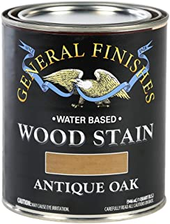 General Finishes WOQT Water Based Wood Stain, 1 Quart, Antique Oak