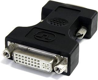 (Black, DVI Female to VGA Male) - StarTech.com DVIVGAFMBK DVI-I to VGA Cable Adapter, Black, F/M, DVI I to VGA Adapter for...
