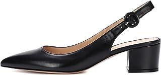 elashe- Scarpe da Donna - Pointed Toe Slingback Sandali - Tacco a Blocco con Cinturino Caviglia Fibbia