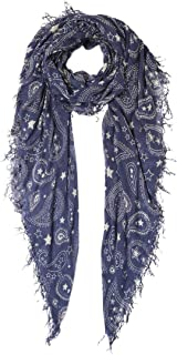 Chan Luu Women's Paisley and Stars Print Silk And Cashmere Scarf