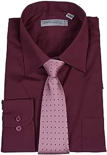 burgundy dress shirt with tie