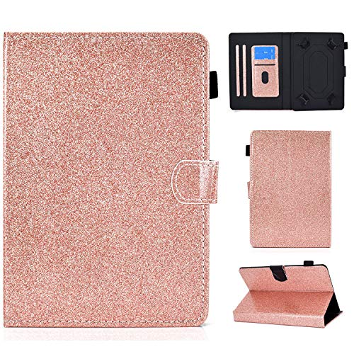 Ancase Tablet Case for Universal 7.5-8.5 Inch Leather Design Case Samsung Huawei Apple Lenovo Tablet 8.0 7.9 8.4 inch Protective Cover with Card Slots - Rose Gold