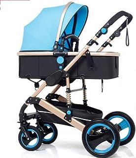 GPWDSN Buggys och barnvagn, barnvagn hög landskap Can Sit Horisontal bärbar vikbar dubbelriktad cykelstötdämpare Newborn S...