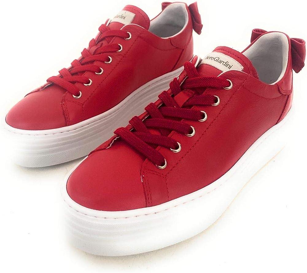 Nero giardini, scarpe sneakers, in pelle da donna E010700D