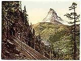 Muestra del Metal ferrocarril Gornergrat y osteotomía II de aluminio Valais Alpes impresión A4 12X8